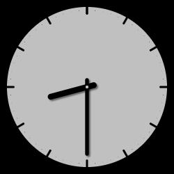 8 Uhr 30 morgens